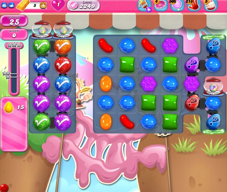 Candy Crush Saga level 2249