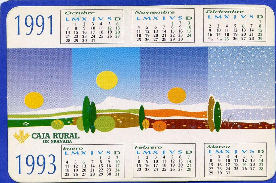 Colecciono calendarios caja rural de granada 1990 2013 for Caja rural granada oficinas