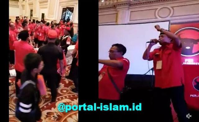 RICUH! Tolak Keputusan Megawati, Konfercab PDIP Jatim Ricuh