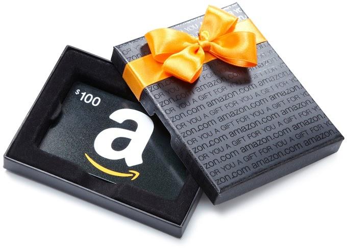 Sorteio de um Gift Card de $ 100 dólares da Amazon