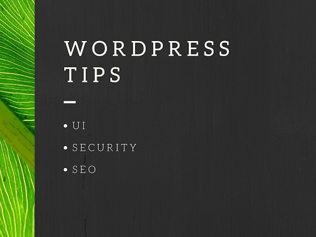 list of popular wordpress tips