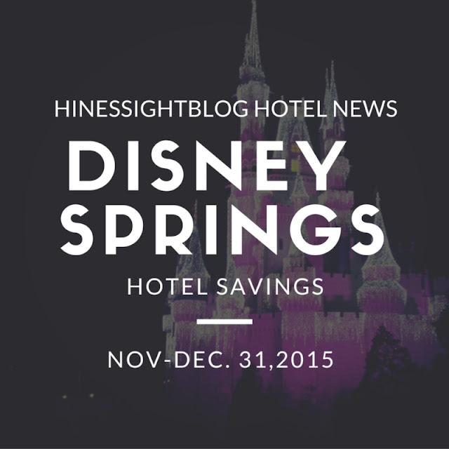 Hotel Savings on Disney Springs Hotel through Dec. 31, 2015