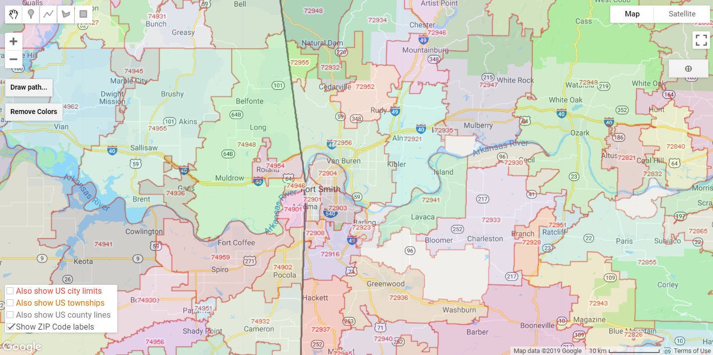 A Colorful Post About City Limits And Zip Codes