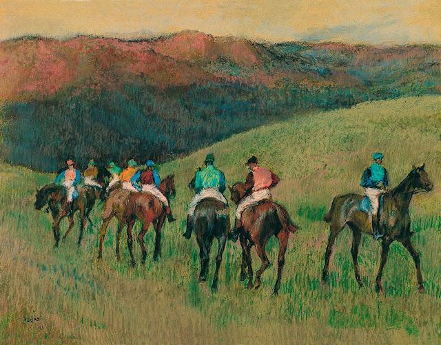 Эдгар Дега - Скачки в поле (1894)