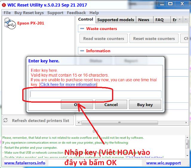 Wicreset | KEY WIC | Key Wicreset Máy in | Hướng dẫn reset máy in EPSON - CANON | Bán Key reset Máy in EPSON - CANON Giá Rẻ 3