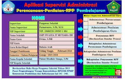Download Aplikasi Supervisi Administrasi Perencanaan Penilaian Dan RPP Terbaru
