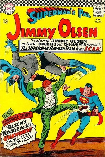 Episode #395 Part III: Superman Family Comic Book Cover Dated April 1966: Superman's Pal Jimmy Olsen #92!