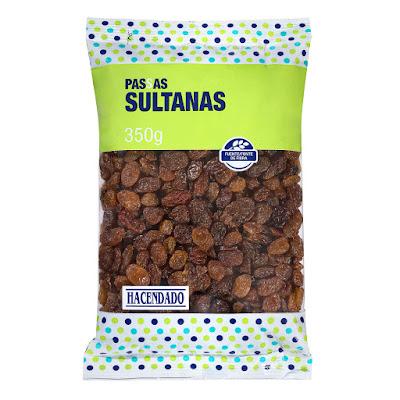 Pasas sultanas sin semillas Hacendado