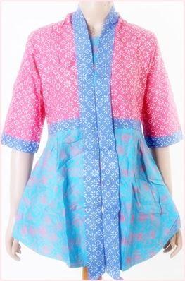 Baju Batik Wanita 2 Motif Lengan Pendek