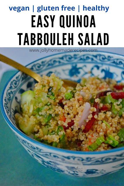 Healthy Quinoa Tabbouleh Salad