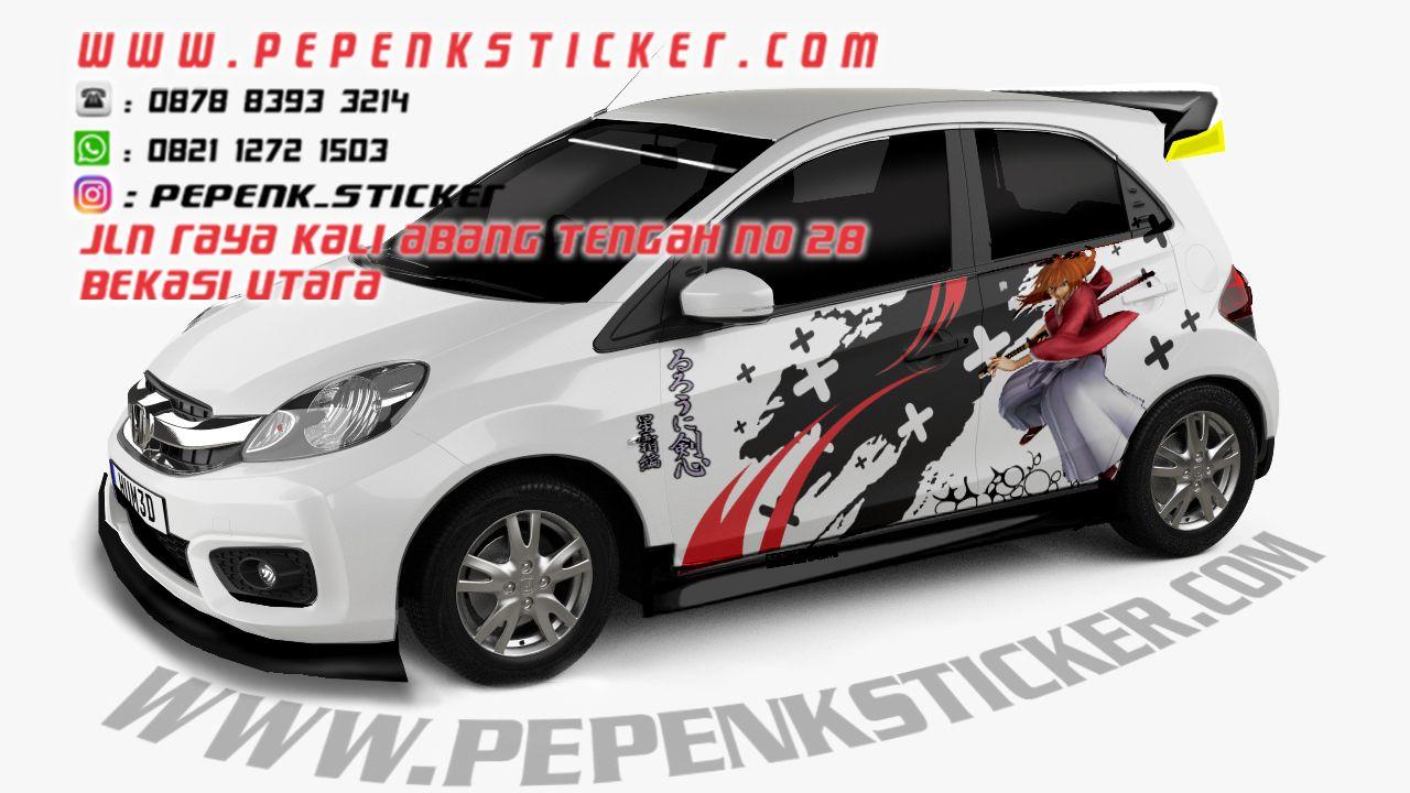 Mobil sticker mobil online samurai x brio cutting sticker decal bekasi jakarta rurouni kenshin
