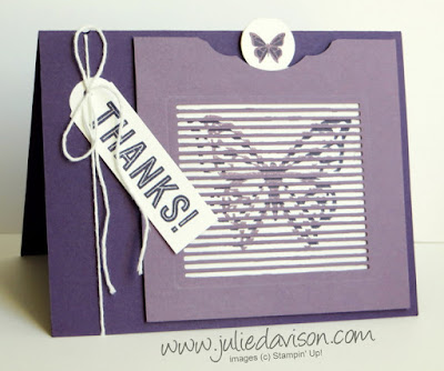 VIDEO: Tips for Making Stampin' Up! You Move Me Fluttering Butterfly Card ~ www.juliedavison.com