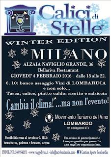 """Calici di Stelle """"Winter Edition"""" 4 Febbraio Milano"""