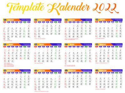 template kalender 2022