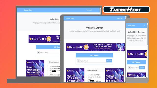 URL Shortner Premium Script For Blogger Free Download by ThemeHint