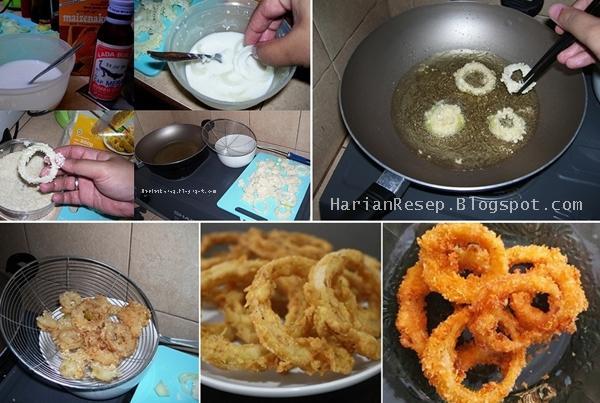 Download Wallpaper Resep Onion Ring (Bawang Bombay Goreng Tepung) Enak Crispy