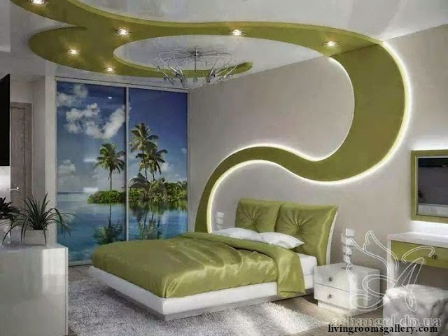 amazing Pop False Ceiling Designs with LED Ceiling Lighting for bedroom