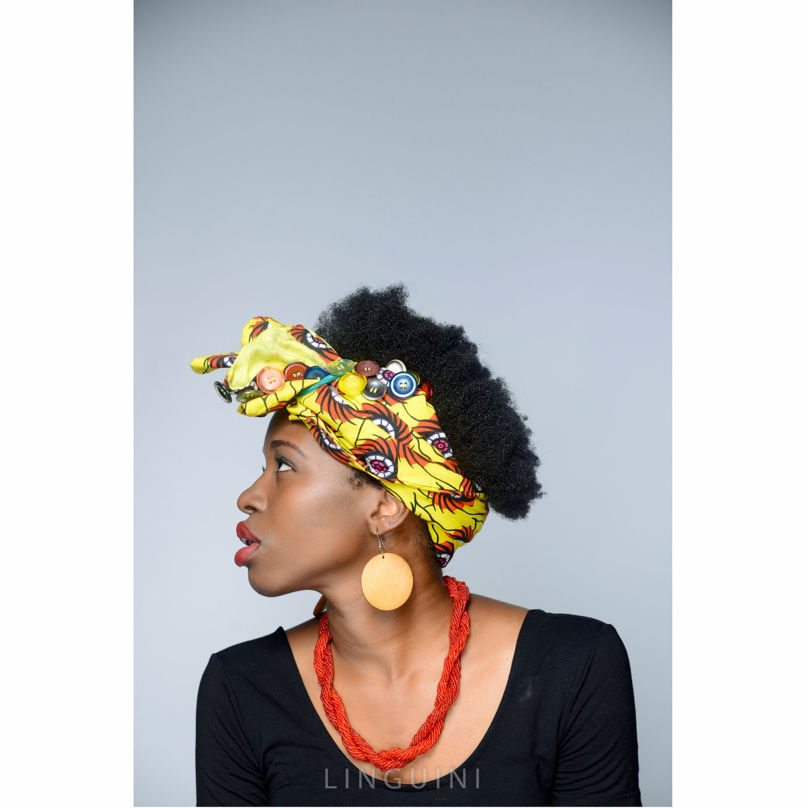 Ankara Headtie Black Model