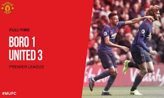 Video Gol Middlesbrough vs Manchester United 1-3 Liga Inggris