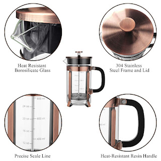 Veken French Press Coffee Maker