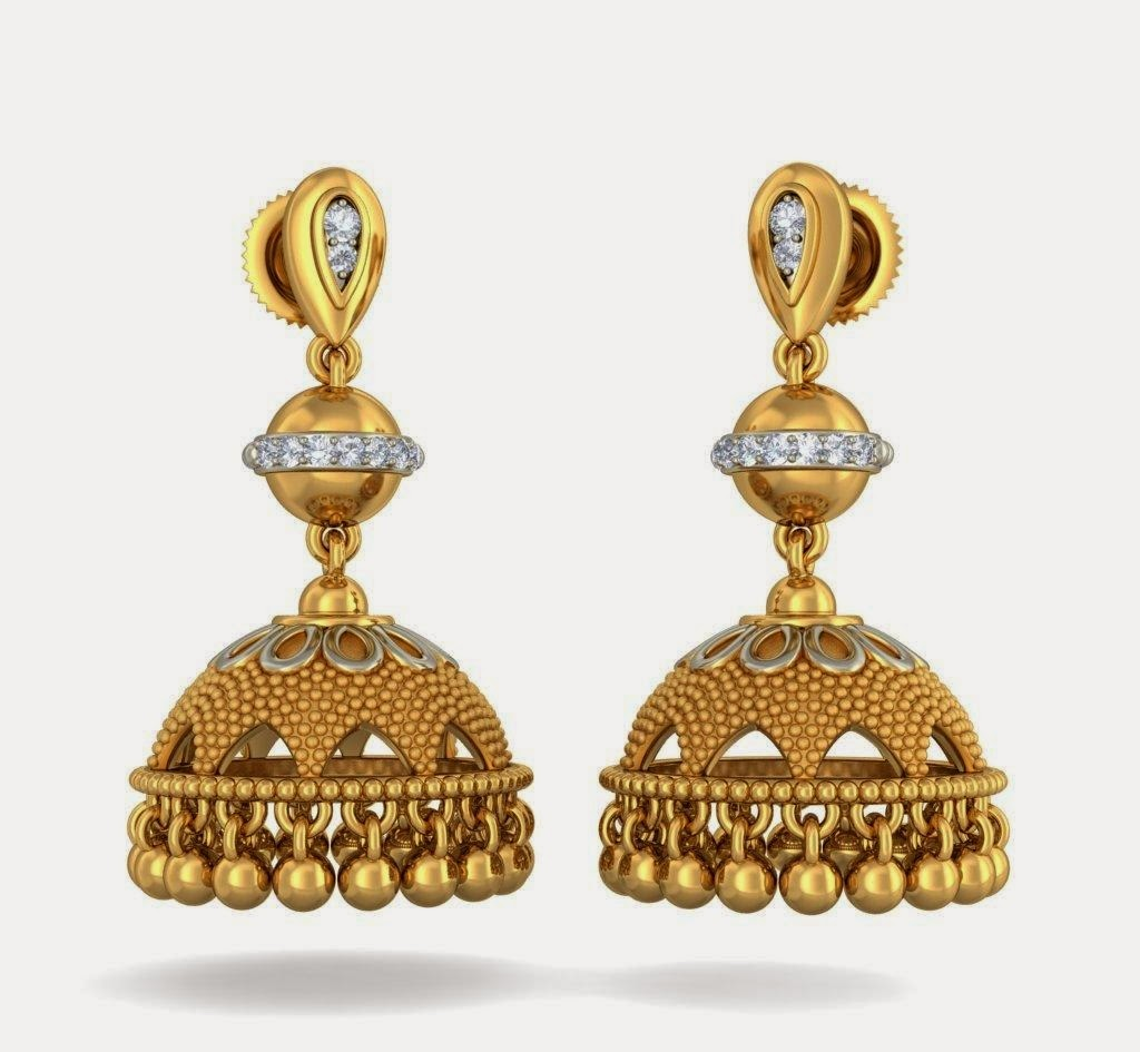 Free Download HD Wallpapers: New Gold Jhumka Earring