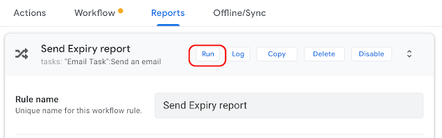 AppSheetで在庫管理、レポートのメールを手動で送信