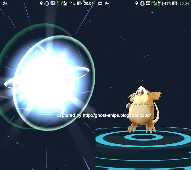 Karakter Pokemon dapat di-evolve hingga dapat meningkatkan combat power.