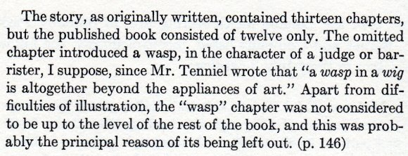 """The Life and Letters of Lewis Carroll by Stuart Dodgson Collingwood from The Wasp in a Wig, Martin Gardner and Macmillan 1977."""