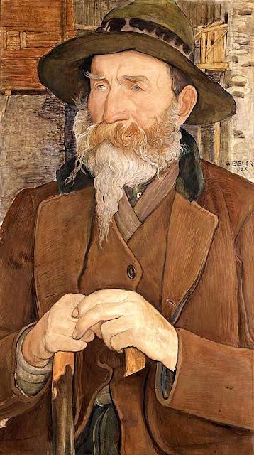 Ernest Biéler (1863- 1948) Le sapeur, 1926 Tempera sur plaque de bois, peintre suisse
