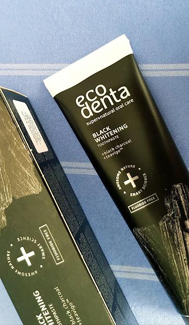 Ecodenta ekologiczna wybielająca czarna pasta do zębów z węglem