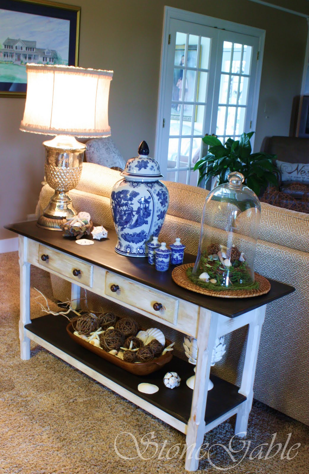 Painted Sofa Table  StoneGable