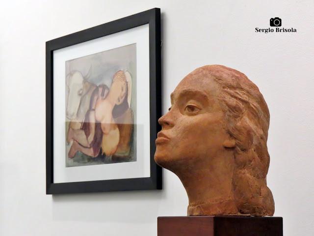 Fotocomposição com a Escultura Cabeça de Lucy - Museu Lasar Segall - São Paulo