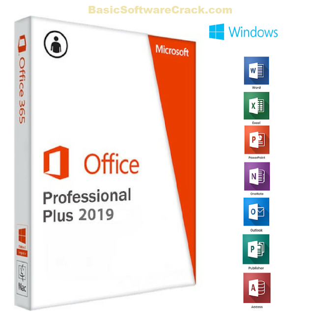 Microsoft Office Pro Plus 2016-2019 64Bit with Activator Free Download