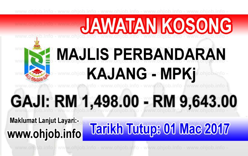 Jawatan Kerja Kosong MPKj - Majlis Perbandaran Kajang logo www.ohjob.info mac 2017