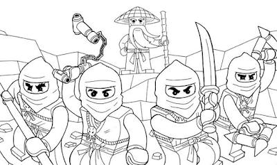 Gambar Mewarnai Ninjago - 3