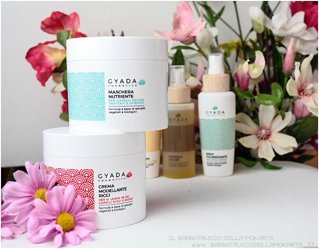 maschera capelli nutriente  crema modellante review gyada cosmetics, vegan bio, capelli hair routine
