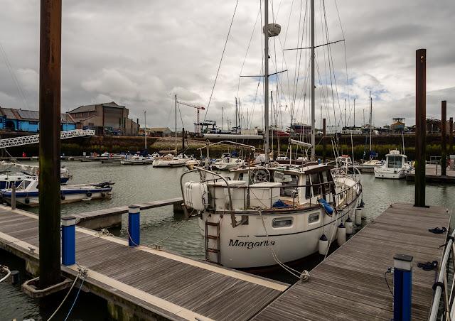 Photo of bright skies at Maryport Marina on Sunday