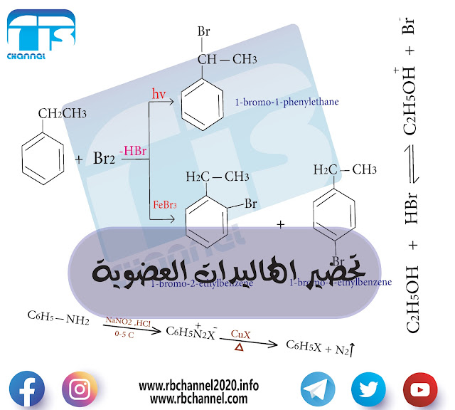 تحضير الهاليدات العضوية Preparation of Organic Halides