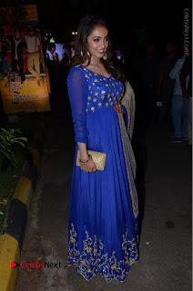 Telugu Actress Tejaswi Madivada Pos in Blue Long Dress at Nanna Nenu Na Boyfriends Audio Launch  0101.JPG