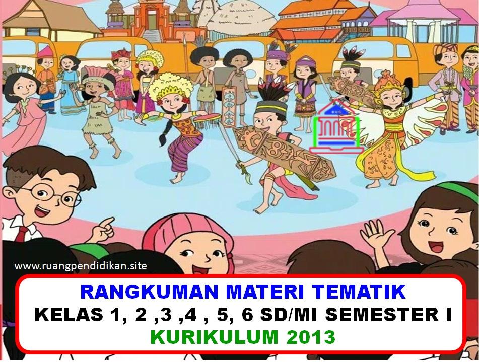 Rangkuman Materi Dan Soal Bdr Tematik Kurikulum 2013 Kelas 1 2 3 4 5 6 Sd Mi Ruang Pendidikan