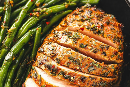 How to Make Roasted Pork Loin with Green Beans