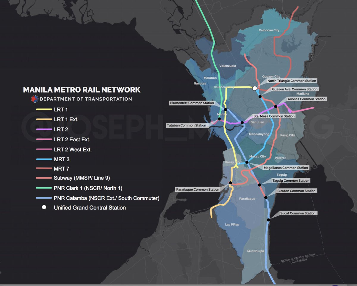 Map of upcoming Greater Metro Manila Railway Network wows netizens