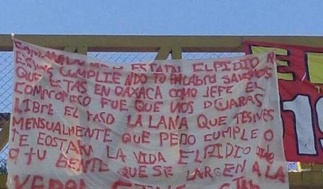 """""""No estás cumpliendo tu palabra sabemos que estas en Oaxaca que pedo cumple o te costará la vida dile a tu gente que se larguen a la v… CJNG"""
