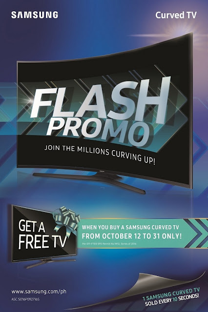 Samsung Flash promo on Samsung Curved TV