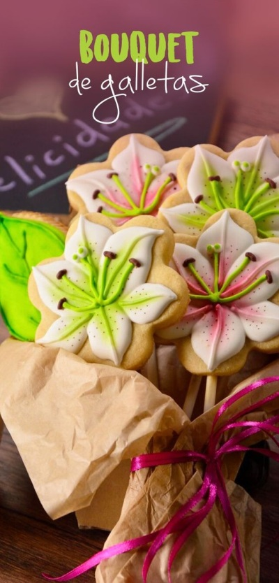 Bouquet de galletas. Foto: Craftologia