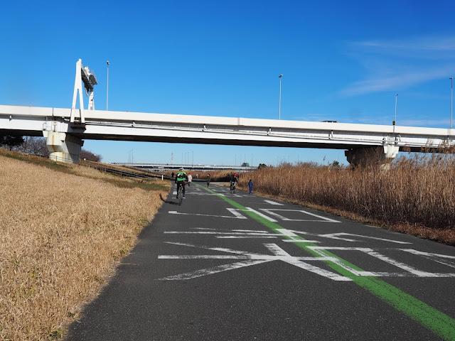 荒川自転車道 首都高7号線