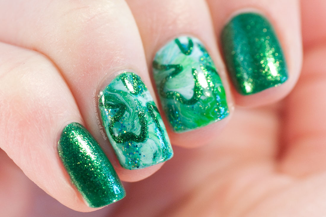 Green Clover Saint Patrick's Day Nails