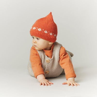 Baby pixie hat knitting pattern from Katya Frankel