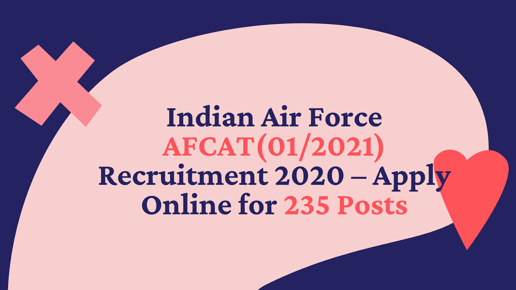 Indian Air Force AFCAT(01/2021) Recruitment 2020 – Apply Online for 235 Posts
