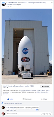 SpaceX TESS fairing at NASA